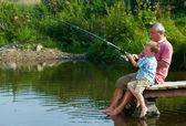 Weekend fishing — Stock Photo