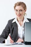 Businesswoman working — Stock Photo