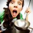 Girl with ladle — Stock Photo #11627635