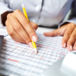 Accounting notes — Stock Photo