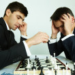 Chess battle - Stock fotografie