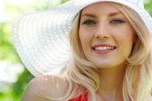 Fashionable blonde — Stock Photo
