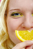 Sonrisa de limón — Foto de Stock