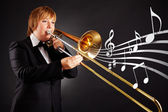 Musician — Stock Photo
