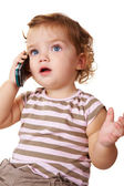 Talkative kid — Stock Photo