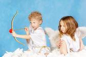 Dwa aniołki — Zdjęcie stockowe
