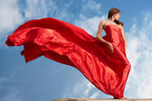 Woman in red — Stockfoto
