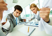 Aggressive managers — Stock Photo