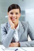 Gelukkig zakenvrouw — Stockfoto