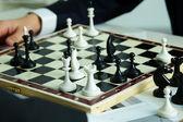 Figuras en tablero de ajedrez — Foto de Stock