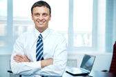 Conscientious manager — Stock Photo