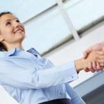 Formal handshake — Stock Photo