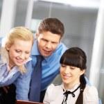 Three businesspeople — Stock Photo