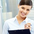 Pretty secretary — Stock Photo