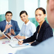 Attentive employees — Stock Photo
