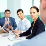 Attentive employees — Stock Photo