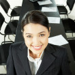 Woman in conference hall - Stock Photo