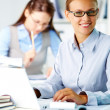 Happy office worker — Stock Photo