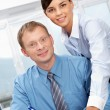 Stock Photo: Pair of colleagues