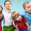 Row of children — Stock Photo #11632778