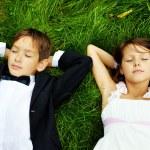 Restful kids — Stock Photo