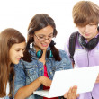 Stock Photo: Studying teens