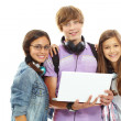 Teens with laptop — Stock Photo #11632919