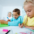 Stock Photo: Drawing kids