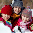 Friends in snow — Stock Photo #11633040