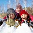 Stock Photo: Kids in snow