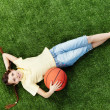 girl with ball — Stock Photo