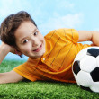 Stock Photo: Lad with ball