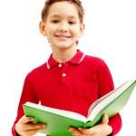 教科書を持つ少年 — ストック写真