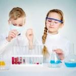 Children scientists — Stock Photo