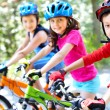 Stock Photo: Young cyclist