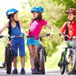 Riding bikes together — Stock Photo