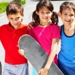 Stock Photo: Young skaters