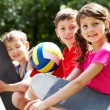 Stock Photo: Active children