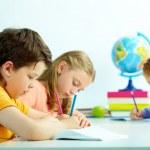 tekening leerlingen — Stockfoto
