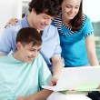 Studying teens — Stockfoto