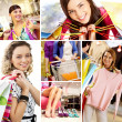 Shopping theme — Stock Photo