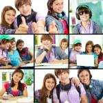 Teenage students — Stock Photo