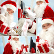 Stock Photo: Busy Santa