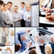 Stock Photo: Collage of business interaction