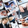 Stock Photo: Collage of business