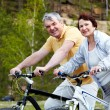 On bicycles — Stock Photo
