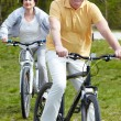 Mature bicyclist — Stock Photo #11634306