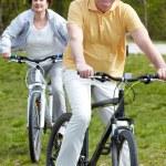 Mature bicyclist — Stock Photo #11634306