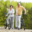 Two bicyclists — Stock Photo