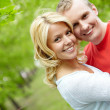Embracing couple — Stock Photo #11634356